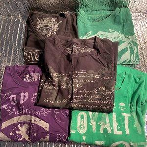 Men Express Graphic T-Shirts Size Medium lot of 5